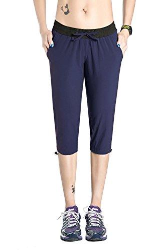 - Nonwe Women's Quick Dry Outdoor Capri Trip Shorts Blue Granite XS