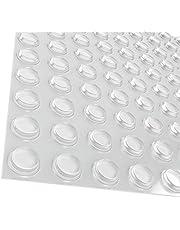 GorillaGrit 100 stuks kastdeurbumpers, gemaakt in de VS, transparante zelfklevende bufferpads voor kasten, laden, glazen toppen, snijplanken, fotolijsten, kleine meubels
