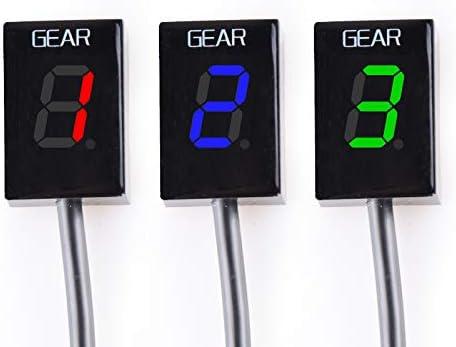 Blau KYN for Honda NC700 S//X 2012-2018 NC750 S//X 2014-2018 Motorrad Ganganzeige LED 1-6 Level Schaltlicht anzeigen Meter Instrumente Drehzahlmesser