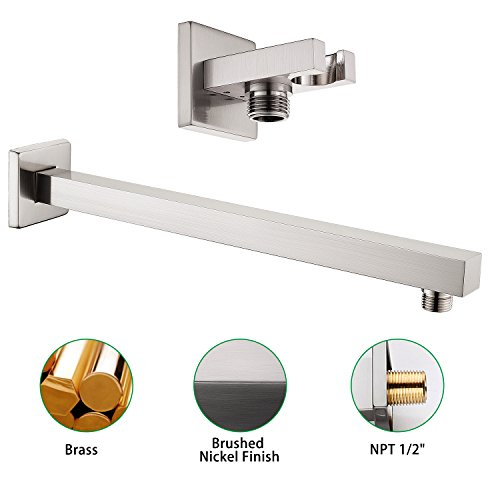 SR SUN RISE Brass Shower System 10 Inch Bathroom Luxury Rain Mixer Shower Combo Set Wall Mounted Rainfall Shower Head Systems Brushed Nickel Finish (Contain Shower Faucet Rough-In Valve Body and Trim) by SR SUN RISE (Image #7)