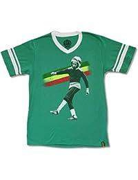 "Adult Bob Marley ""Kick"" Green V-Neck Soccer Jersey Shirt"