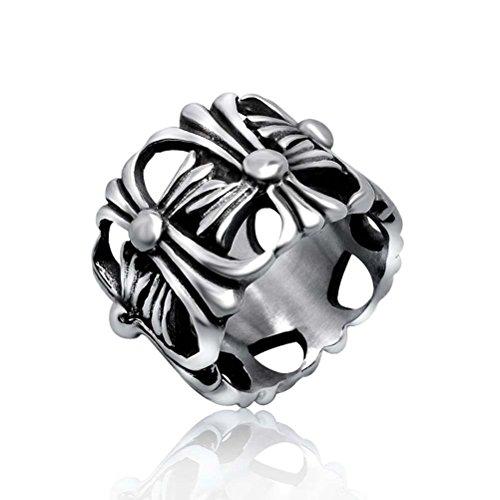Elefan Cornelia Jewelry Retro Casting Gothic Punk Stainless Steel Cross Chrome Hearts Rings