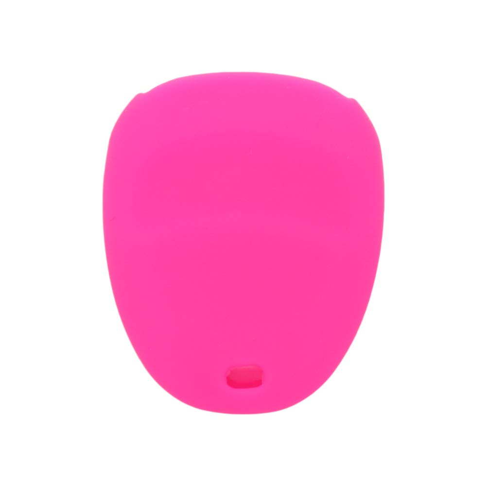 SEGADEN Silicone Cover Protector Case Skin Jacket fit for CHEVROLET BUICK CADILLAC PONTIAC OLDSMOBILE 4 Button Remote Key Fob CV4611 Pink