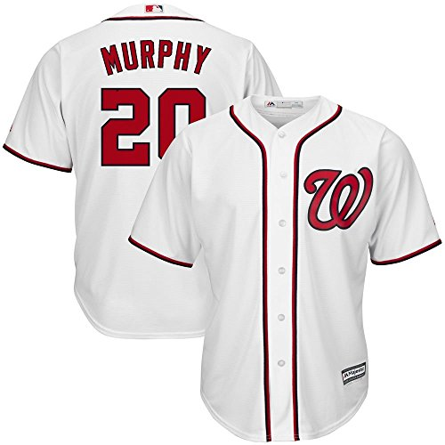 Home Nationals Washington Jersey Youth (Daniel Murphy Washington Nationals MLB Majestic Youth White Home Cool Base Jersey (Medium 10-12))
