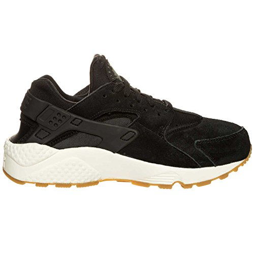 NIKE Wmns Air Huarache Run SD, Zapatillas de Trail Running para Mujer Negro (Black/Deep Green/Sail/Gum Light Brown 001)