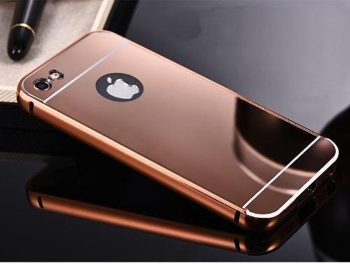 6c1b291b5 Capa Case Bumper Alumínio Espelhada Apple iPhone 5g 5s Rosa  Amazon ...