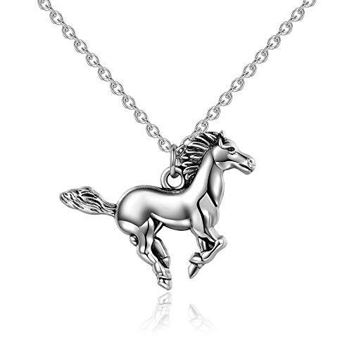 Silver Pony Shirt - Embolden Jewelry My Little Pony Pendant [Silver Horse Necklace] Best Gift [American Owned] for Young Girls, Teen Girls, Equestrians or Cowgirls