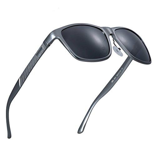 ATTCL® 2016 Wayfarer Stil Polarisierte Fahren Sonnenbrille Herren Damen 18587gray-gray