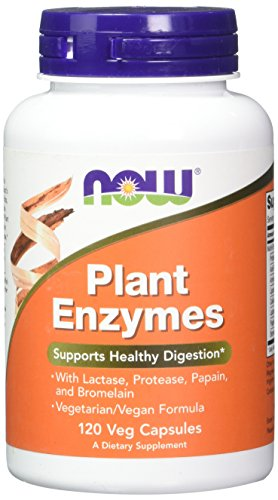 NOW Plant Enzymes,120 Capsules (Now Foods Plant Enzymes)