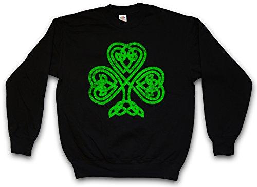 SHAMROCK IRISH KNOT I SWEATSHIRT PULLOVER PULLI – Cloverleaf Irland Ireland Kleeblatt Kelten Knoten Runes Rune Größen S – 3XL