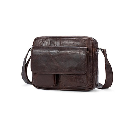 And 24x7x18cm Leather Genuine Man Sucastle Resistant 1 Bag Leather Shoulder Bag Small Backpack Handbags Shoulder Chest Bags 6xzfxU