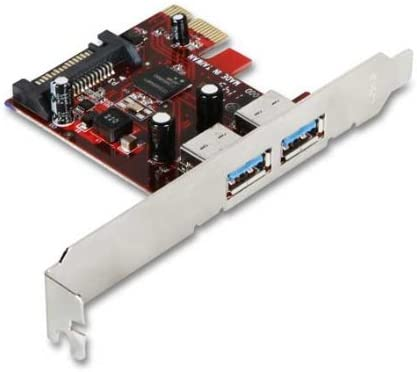 iStarUSA PCI Express 1x V2.0 146828 Host Controller Compatible with 2.0 and 1.0 5.0Gbps to 2-Port USB3.0