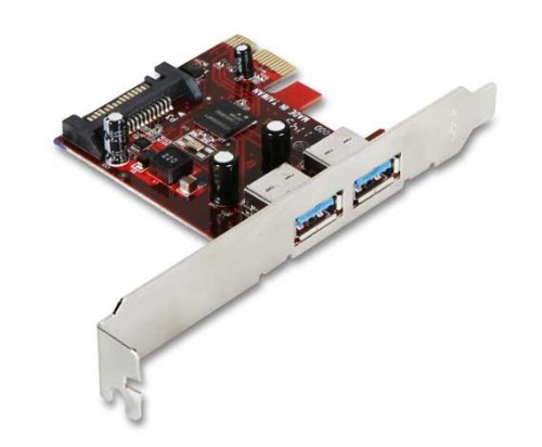 - iStarUSA PCI Express 1x V2.0 (5.0Gbps) to 2-port USB3.0 (compatible with 2.0 and 1.0) host controller