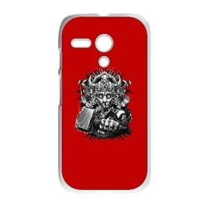 Motorola G Cell Phone Case White God of Thunder GNE Customize Your Own Phone Case