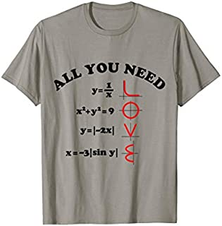 All You Need Is Love Math T-shirt | Size S - 5XL