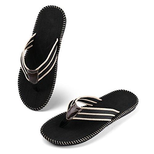 f9c696919707 85%OFF Aerusi Men s Boy s Leisure Flip Flops Casual Braid Strap Thongs Flat  Summer Sandals