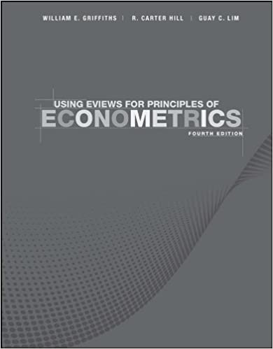 Using EViews for Principles of Econometrics: 9781118032077