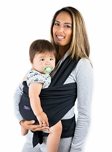 Born Wrap (Black Baby Wrap Carrier - Breathable Sling & Carry Bag – Suits Newborn, Infant and Toddler)