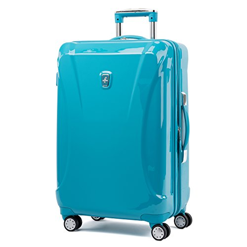 Atlantic Ultra Lite Hardsides 24'' Spinner Suitcase, Turquoise Blue by Atlantic