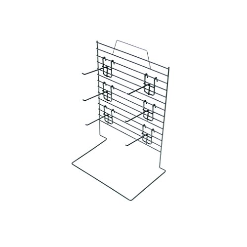 Rich CAJ-12-6KH04B Wire Grid Counter Display with Wire Frame, Back Panel Grid, 6 Removable 4