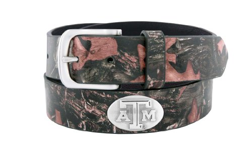 NCAA Texas A&M Aggies Zep-Pro Leather Concho Tapered Tip Belt, Brown, 38-inches