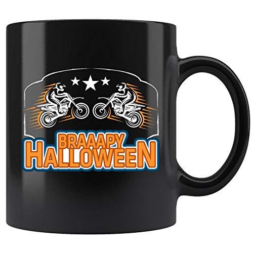 Braaapy Halloween Funny Costume Motocross Dirt Bike Mug Coffee Mug 11oz Gift Tea Cups 11oz ()