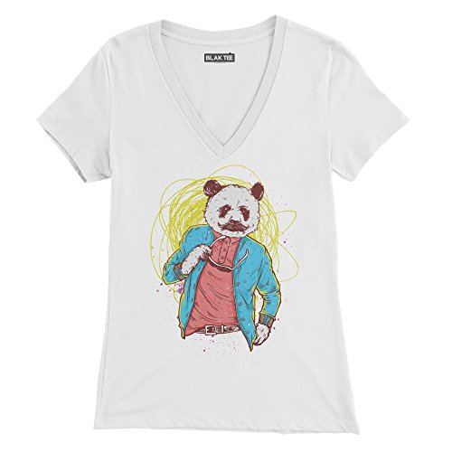 Classy Panda Acting All Casual With The Sphaghetti Behind Him Femme T-shirt
