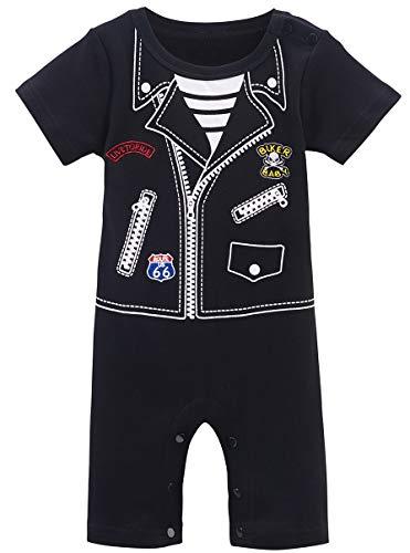 COSLAND Baby Boys' Biker Costume Romper (Biker, 12-18 Months)]()