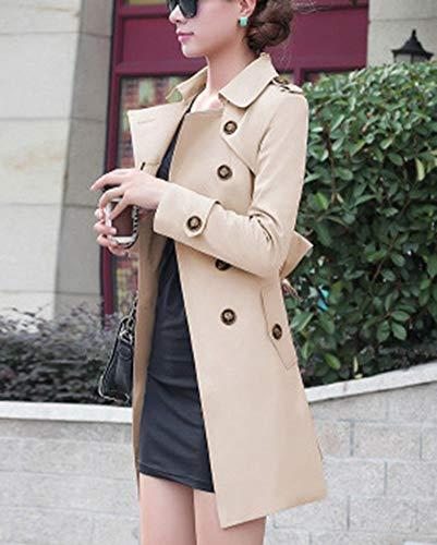 Manches Coat Manteau Trench Femme Kaki Longues GladiolusA Blouson Veste Casual q5Xgtx