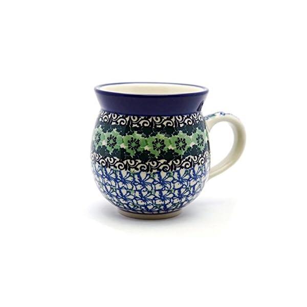 Polish Pottery Mug – 12 Oz. Bubble – Kiwi