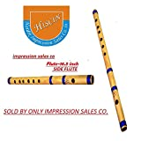 HISCIN ISC Bamboo Natural Flute Bansuri GG Type Transverse Style for Deep Low Frequency Sonorous Notes 17Inch (Brown)
