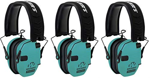 Walkers GWPRSEMLTL Razor Slim Electronic Earmuff 23 dB Light Teal - 3 Pack