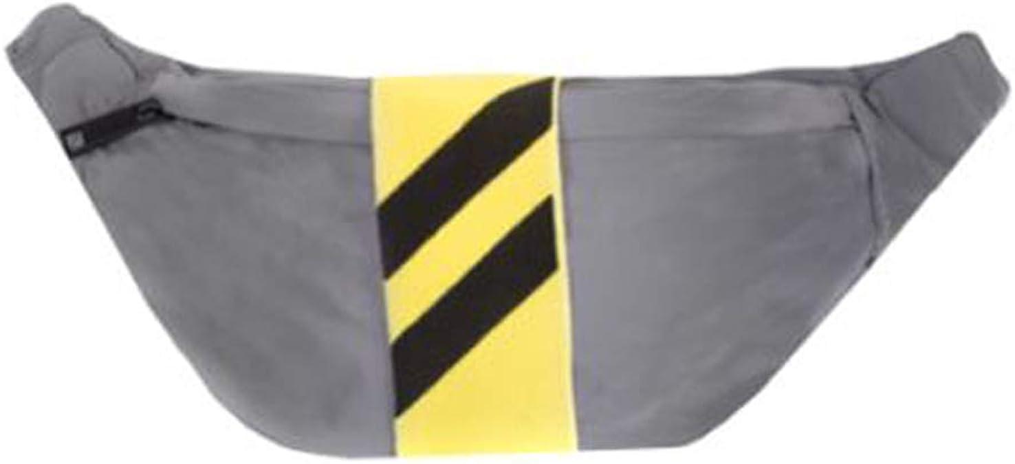 SVNX Sac banane r/éfl/échissant argent/é avec poche zipp/ée et sangle r/églable