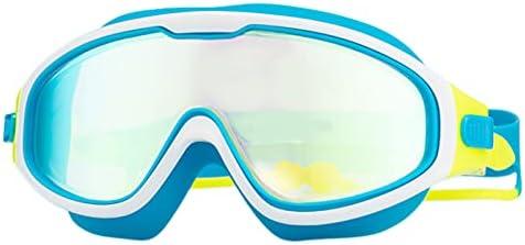 XQKJ Swimming Glasses Children's Swimming Goggles Anti-Fog, Anti-Ultraviolet, Clear Wide Field of View with earplugs Swimming Goggles for Children 4-15 Years Old