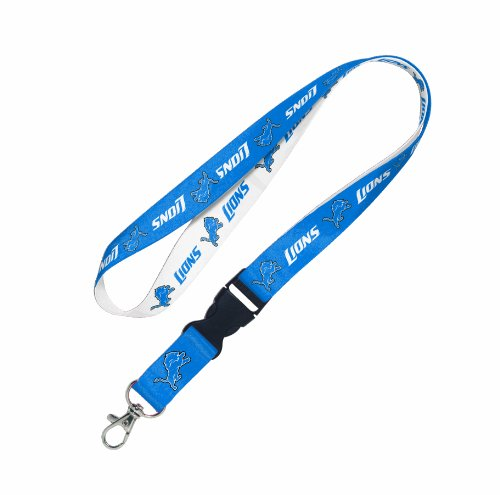 NFL Detroit Lions Lanyard with Detachable Buckle Detroit Lions Football Pin