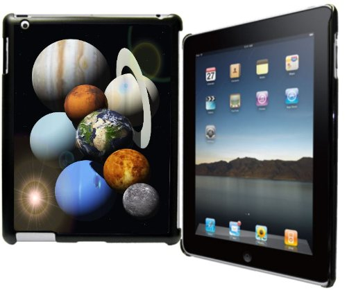 Rikki Knight? Solar System Planets Design Black Snap on Protective Case for Apple iPad? 2 - The New iPad (3rd Generation) - iPad 4
