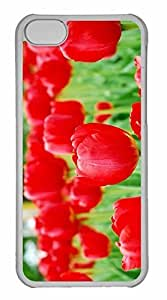 iPhone 5C Case, Personalized Custom Tulips 4 for iPhone 5C PC Clear Case