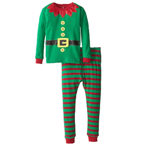 [LUKYCILD Baby Girl Boy Homewear Christmas Costume Kids Set] (Elf Outfits For Kids)