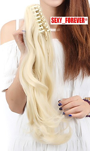 [Free Delivery Claw Ponytail Handy Jaw Pony Tail Clip in Hair Extensions One Piece Long Straight Soft Silky for Women Fashion and] (Bond Girl Fancy Dress Costumes)
