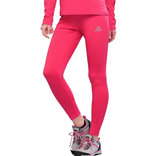 The First Outdoor Women's Athletic Thermal Underwear Bottoms Large Rose Red