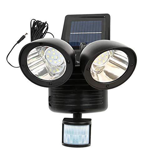 Twin Head Solar Light With Pir