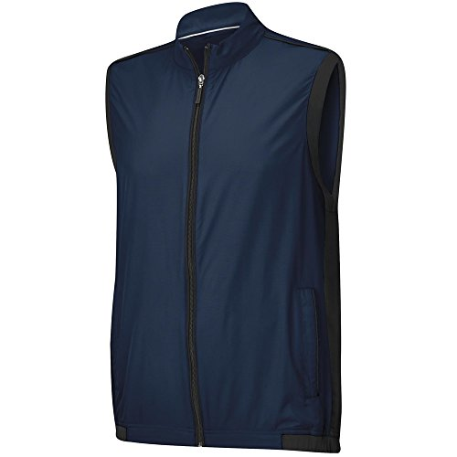adidas Golf Men's ClimaProof Wind Vest, Rich Blue/Black, (Adidas Lightweight Vest)