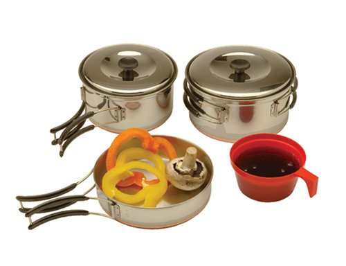 Texsport Stainless Steel Backpackers Cook Set, Outdoor Stuffs
