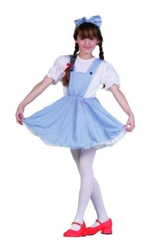 RG Costumes Prairie Girl Costume, Blue/White, Small ()