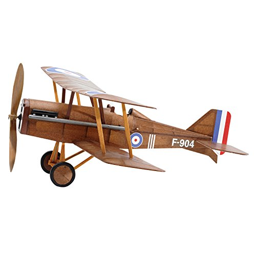RAF SE5a WWI Bi-plane model airplane complete vintage model rubber-powered balsa wood aircraft kit that really flies! by ()
