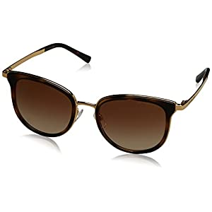 Michael Kors MK1010 110113 Gold / Tortoise Adrianna I Square Sunglasses Lens Ca