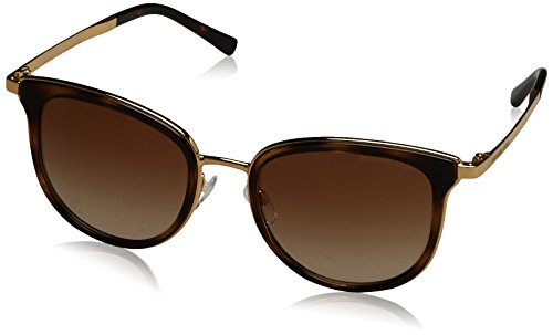 Michael Kors MK1010 110113 Gold / Tortoise Adrianna I Square Sunglasses Lens - Men Michael Sunglasses For Kors