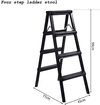 Taburete de escalera de 3 pasos / 4 escalones, Escalera de pedal resistente de aluminio Pedal antideslizante Taburete de escalera plegable para el hogar Pedal resistente de seguridad Escalera multifun: Amazon.es: Hogar