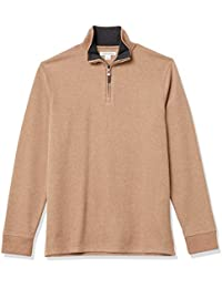 Men's Quarter-Zip French Rib Sweater