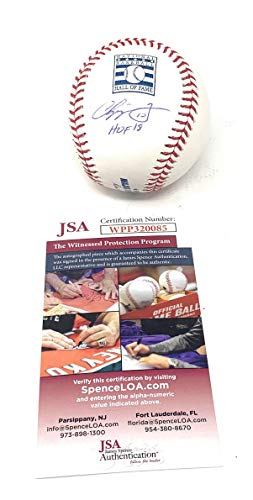 Chipper Jones Atlanta Braves Signed Autograph Official Hall Of Fame MLB Baseball Limited Edition HOF Inscribed JSA Certified from Mister Mancave